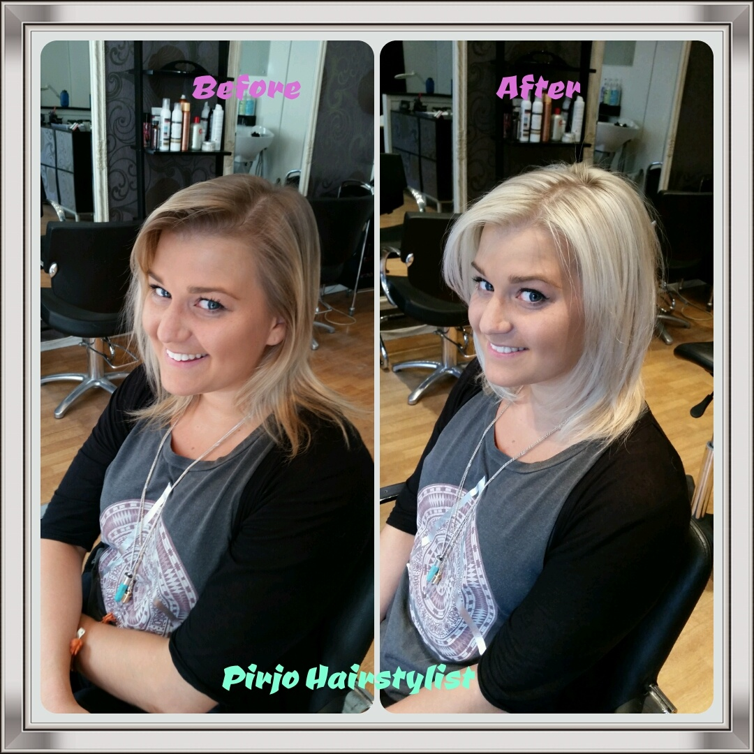 Before And After Pic Ash Blonde Pirjohairstylist S Blog